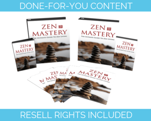 Master Zen done for you content PLR
